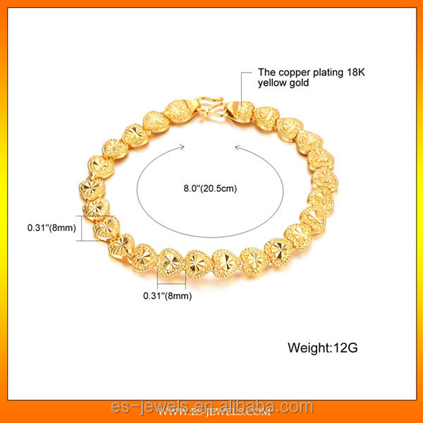 European and American fashion jewelry wholesale exquisite love flower type creative gift 18K Gold Plated Bracelets