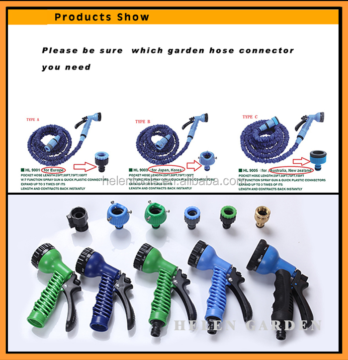 new magic hose expandable garden hose with spray gun as seen on tv. Black Bedroom Furniture Sets. Home Design Ideas