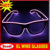neon party glasses, light up sunglasses,sound activated sunglasses