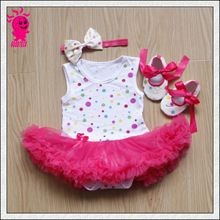 New Lovely Baby Toddler Romper Onesie Outfit Dress 0-12M Summer Baby Ruffles Tutu Skirt