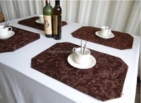 high quality T/C jacquard fabric table mat table runner placemat