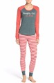 New arrival soft fitted pattern printed womens long johns