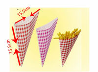LVBAO Latest design French Fries Paper Cone Paper Cone for Fries Sale Paper cone for fast food