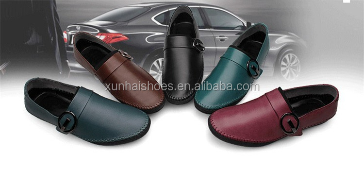 Men's 100% Genuine Leather Driving Shoes,2016 New Fashion Handmade Casual Shoes,Brand Designer Flats Loafers For Men