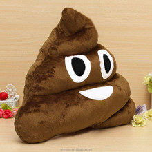 Wholesale plush emoticon pillow stuffed funny poop emoji toy