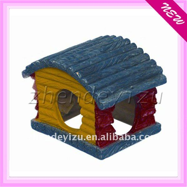 aquarium resin house for fish hide