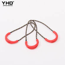 Custom good garment logo zip puller plastic pvc nylon slider zipper pull tabs