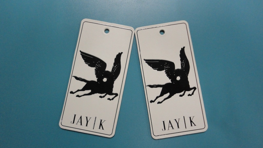 2016 Custom factory directly high quality garments Hang Tags