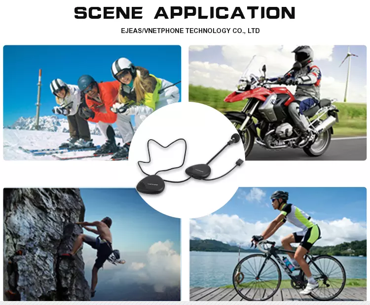Vnetphone full duplex communication intercom motorbike helmet bluetooth headset