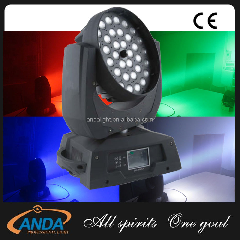 36x10W 4 in 1 RGBW DMX LED Zoom Moving Head Stage Light DMX wash Lighting