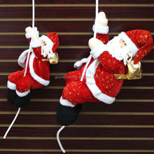 Wholesale hot sale Climbing rope Santa /Santa Claus Hanging Decoration with christmas decoration for sale