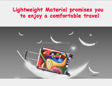 Crystal Patented lightweight hard case trolley luggage bag carry on type luggage and suitcase