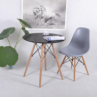 simple designs wooden round dining table and chairs