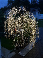 2m beautiful garden decorative weeping willow lighted tree