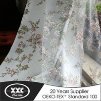 Excellent quality decorative newest polyester burnout curtain