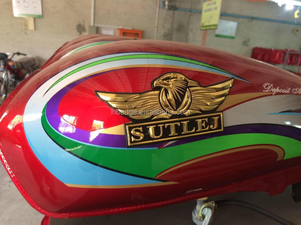 factory promotion motorcycle decals stickers,ABS plastic emblem car body sticker,aluminum gas/fuel tanks sticker