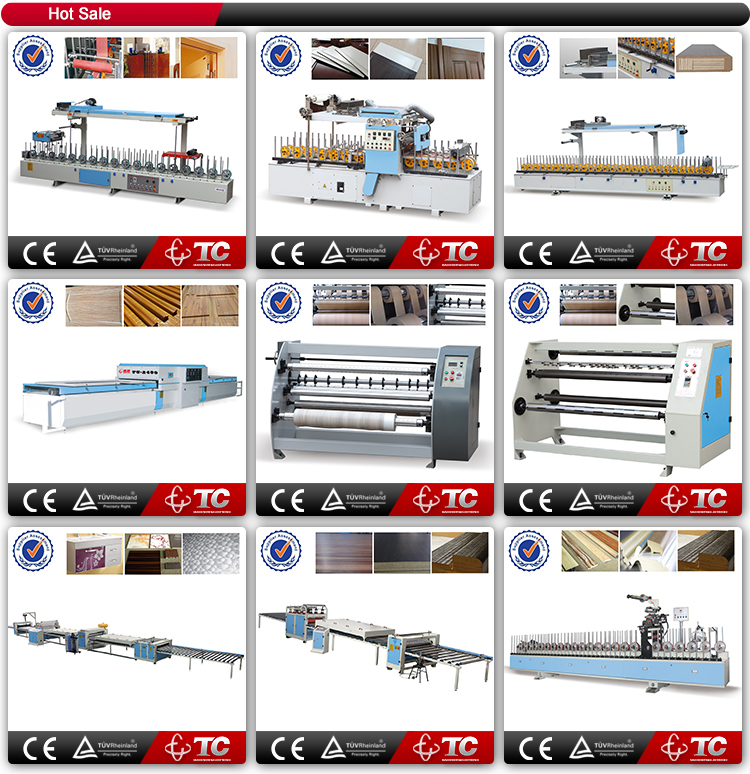 High Standard veneer EVA glue profile wrapping machine