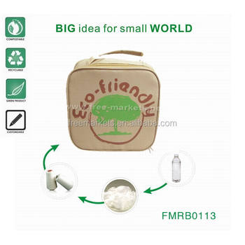 wholesale ECO friendly recycled PET handbags with custom logo and artwork