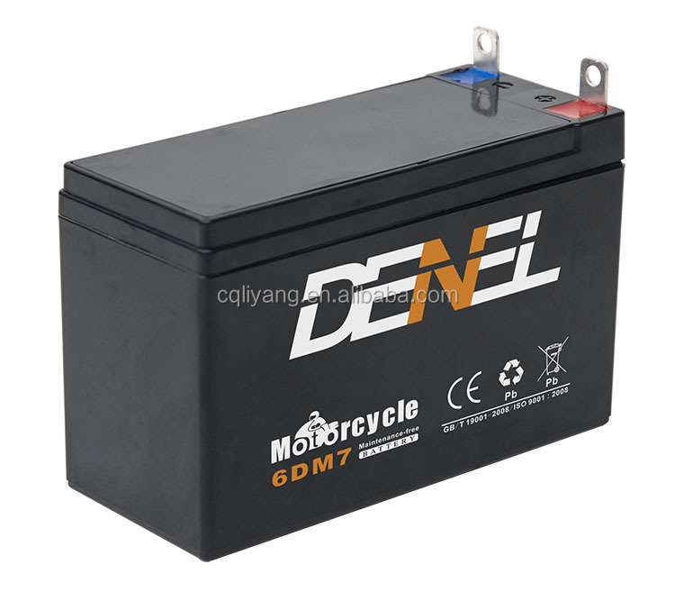 Agricultural machines use batteries 6ah electric lawn mower battery 12V