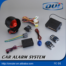 anti-hijacking auto one way car alarm system with universal remote control key canlong distance keyless entry system