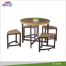 Wooden Dinning Room Dinette Round Table Chairs Set Wholesale