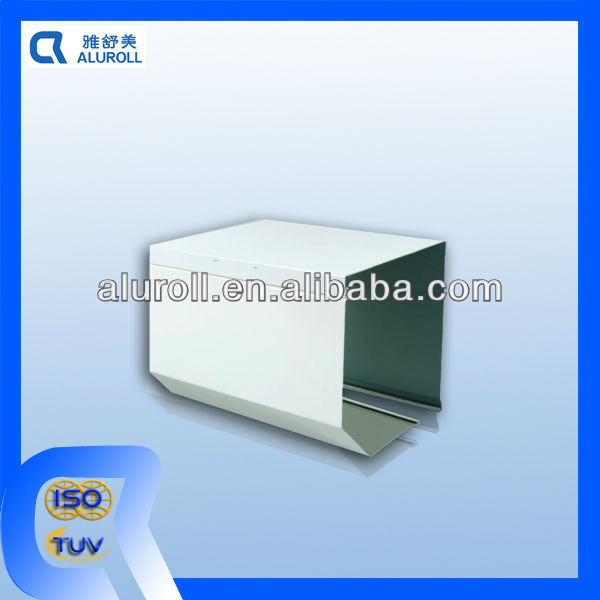 Aluminum Box with truncated front for roller shutters