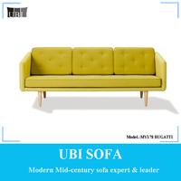 Classic Nordic furniture design 3 seater fabric sofas BUGATTI