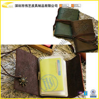 Hot Selling Vintage NameCard Holders For Christams Gift Customized Wholesale Cheap PU Leather Card Holder For Credit Cards