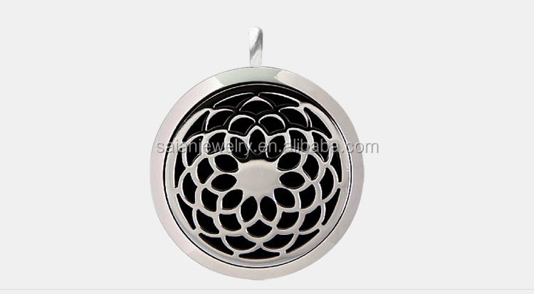 25MM 30MM 316l Stainless steel round silver Aromatherapy Essential Oil Diffuser Necklace/perfume locket, fashion jewellery
