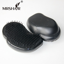 Head Scalp Massager Black Color Hair Brush Comb 1 PCS/Pack Hair Extensions Loop Brush Hair For Extensions Care