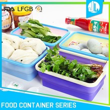 Portable leakproof FDA grade silicone food storage kitchen containers