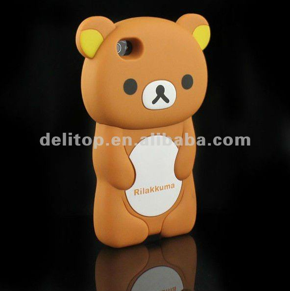 Cute 3D Rilakkuma Bear Hard Back Case Cover Skin For Apple iPhone 4 4S