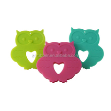 Owl looking necklace pendant silicone jewelry for mom BPA Free Wholesale
