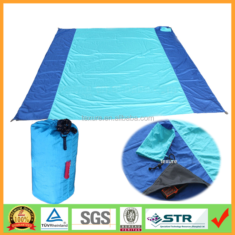 Strong Ripstop Parachute Beach Blanket/Mat for Summer China suppliers