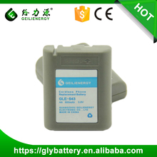 Cordless Phone Rechargeable Battery Pack AA 3.6V For PANASONIC: KX-A43 / KXT-9500 / P-P543