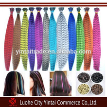 Cheap Synthetic Grizzly Rooster Feathers Multicolor Grizzly Synthetic Rooster Feather Hair Extension