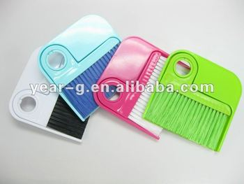 Mini plastic bedroom cute brush and dustpan