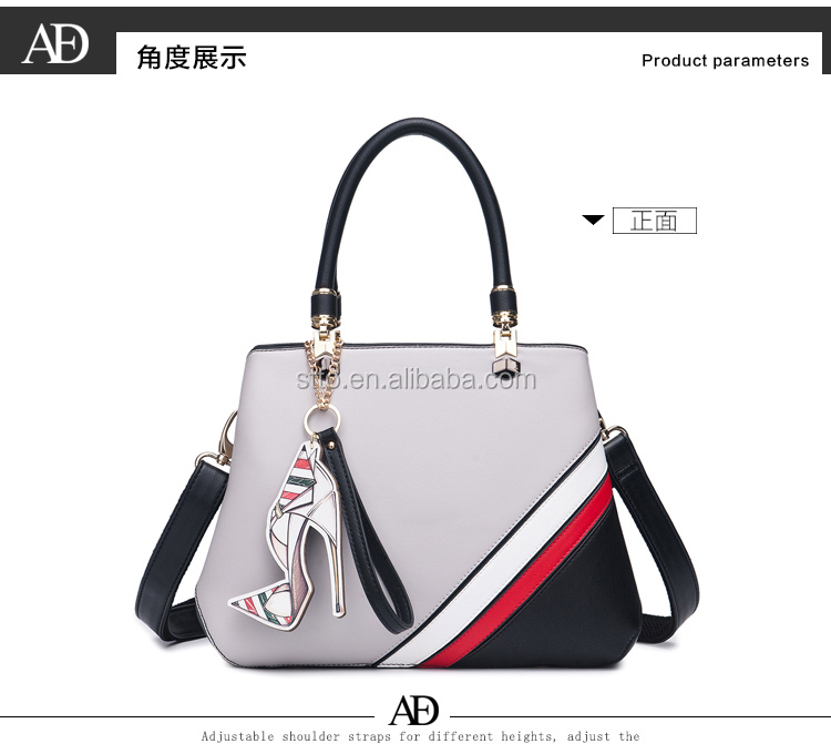 New fashion office lady leather bag, fashion handbag for girls, women PU leather handbag