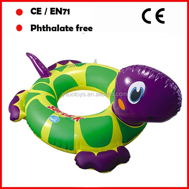 inflatable pool floater turtle swimming rings for kids with custom printing no toxic