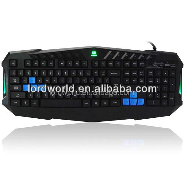 latest professional product ergonomic designed wired Gaming Keyboard with hotkeys