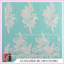WHF-270 Hechun Embroidery Designs Elastic Bonded Lace Curtain Fabric, Laces for Party Dresses