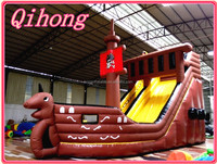 Newest commercial use inflatable slide, inflatable climbing sliding toys pool for sale