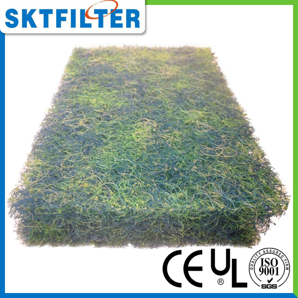 Green and blue water filter media for koi pond