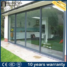 Competitive price heat and sound insulation waterproof glass garage door prices with fly screen