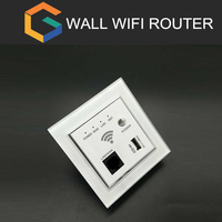 OEM 50 PCS inwall wireless AP usb inwall wifi Router Indoor In Wall Access Point 48V POE