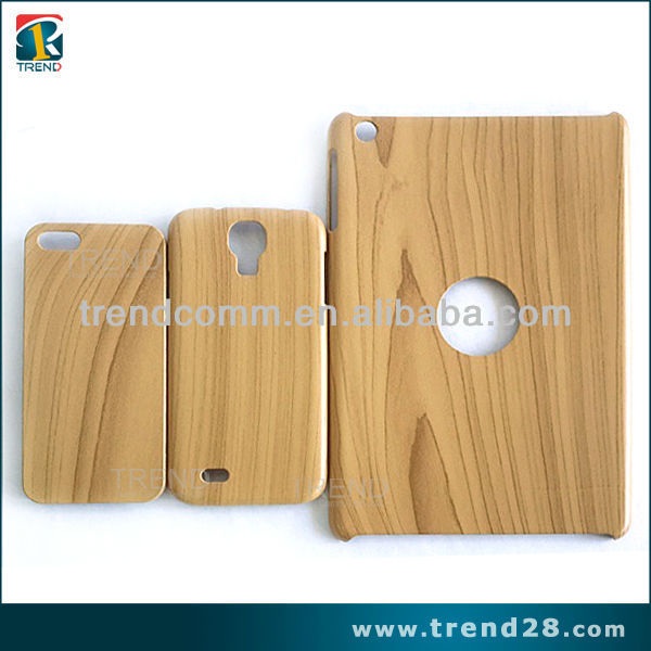 wholesale accessories wood pattern PC slim case for ipad mini2