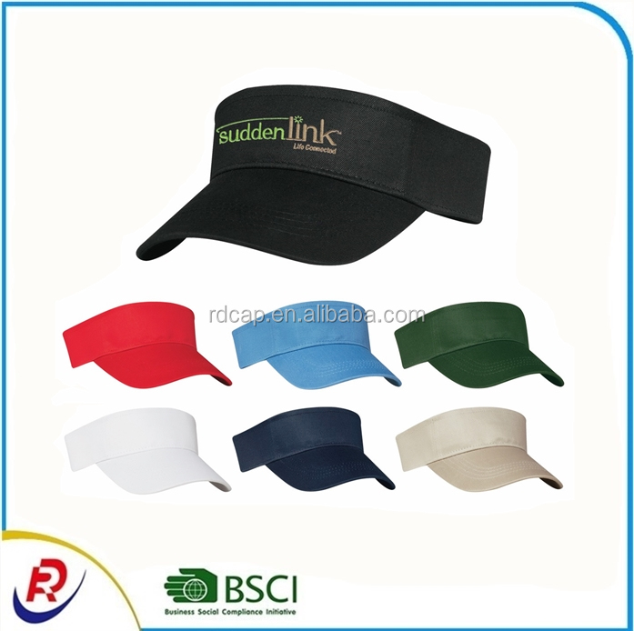 Colorful custom cotton sun visor caps adjustable closure tennis visor cap running cycling sport cap hats