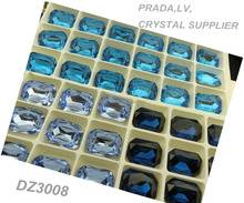 Simulated Dark Aquamarine Lab Created Yiwu Machine Cut Crystal Gemstone Beads