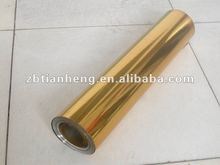 One side gold,another is silver PVC rigid plastic film for chocolate