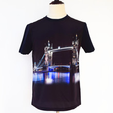 Body Fitting O Neck Wholesale T-Shirts 3D Fashion Clothing Latest New for uk market